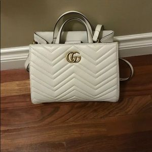 Gucci Marmont small white  bag